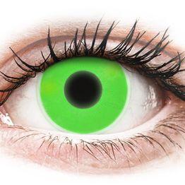 ColourVUE Crazy Glow Green - Μη διοπτρικοί Ετήσιοι φακοί επαφής (2 φακοί)