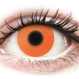 ColourVUE Crazy Glow Orange - Μη διοπτρικοί Ετήσιοι φακοί επαφής (2 φακοί)