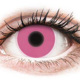 ColourVUE Crazy Glow Pink - Μη διοπτρικοί Ετήσιοι φακοί επαφής (2 φακοί)
