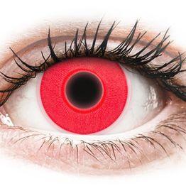 ColourVUE Crazy Glow Red - Μη διοπτρικοί Ετήσιοι φακοί επαφής (2 φακοί)