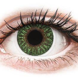 TopVue Color - Green - Διοπτρικοί Μηνιαίοι φακοί επαφής (2 φακοί)