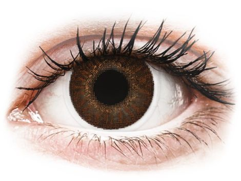 TopVue Color - Brown - Μη διοπτρικοί Μηνιαίοι φακοί επαφής (2 φακοί)