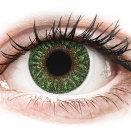 TopVue Color - Green - Μη διοπτρικοί Μηνιαίοι φακοί επαφής (2 φακοί)