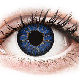 ColourVUE Glamour Blue - Μη διοπτρικοί Τριμηνιαίο φακοί επαφής (2 φακοί)