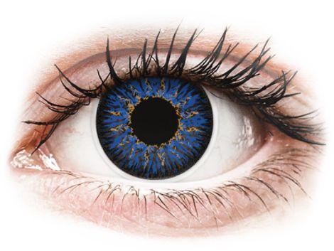 ColourVUE Glamour Blue - Διοπτρικοί Τριμηνιαίο φακοί επαφής (2 φακοί)