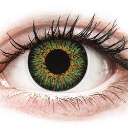ColourVUE Glamour Green - Μη διοπτρικοί Τριμηνιαίο φακοί επαφής (2 φακοί)