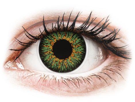 ColourVUE Glamour Green - Διοπτρικοί Τριμηνιαίο φακοί επαφής (2 φακοί)
