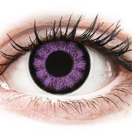 ColourVUE BigEyes Ultra Violet - Μη διοπτρικοί Τριμηνιαίο φακοί επαφής (2 φακοί)