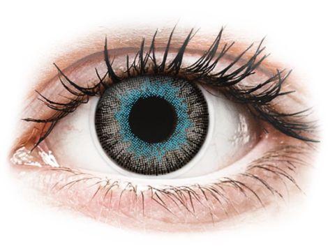 ColourVUE Fusion Blue Gray - Μη διοπτρικοί Τριμηνιαίο φακοί επαφής (2 φακοί)