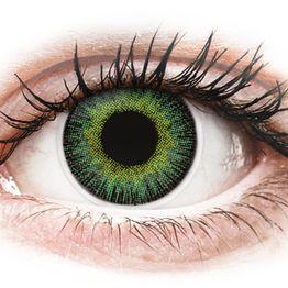 ColourVUE Fusion Green Yellow - Μη διοπτρικοί Τριμηνιαίο φακοί επαφής (2 φακοί)