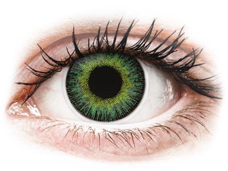 ColourVUE Fusion Green Yellow - Διοπτρικοί Τριμηνιαίο φακοί επαφής (2 φακοί)