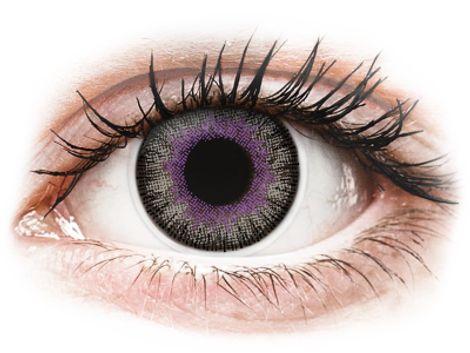 ColourVUE Fusion Violet Gray - Μη διοπτρικοί Τριμηνιαίο φακοί επαφής (2 φακοί)
