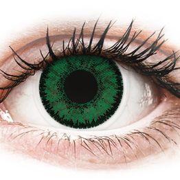SofLens Natural Colors Emerald - Μη διοπτρικοί Μηνιαίοι φακοί επαφής (2 φακοί)