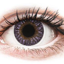 TopVue Color - Violet- Διοπτρικοί Μηνιαίοι φακοί επαφής (2 φακοί)