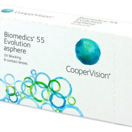 Biomedics 55 Evolution Μηνιαίοι (6 φακοί)