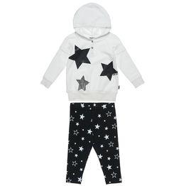 Σετ Φόρμας Five Star μπλούζα με κουκούλα και κολάν με μεταλλιζέ αστέρια