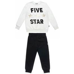 Σετ Φόρμας Five Star μπλούζα με μεταλλιζέ αστέρια και παντελόνι με λάστιχο
