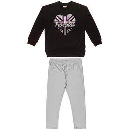 Σετ Φόρμας Five Star μπλούζα με μεταλλιζέ τύπωμα και κολάν