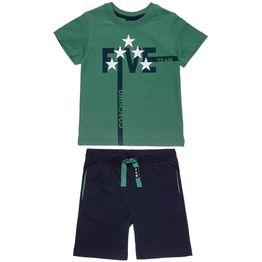 Σετ Five Star μπλούζα με τύπωμα και βερμούδα