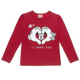 Μπλούζα Disney Minnie Mouse με τύπωμα και glitter