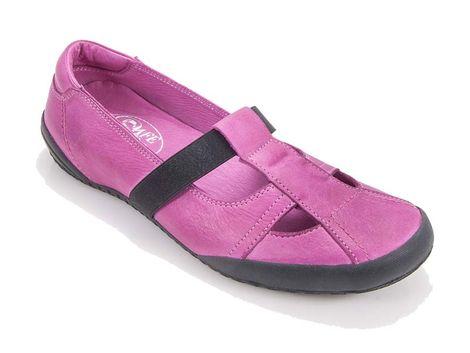 Ανατομική γυναικεία δερμάτινη μπαλαρίνα Safe Step A03-0010