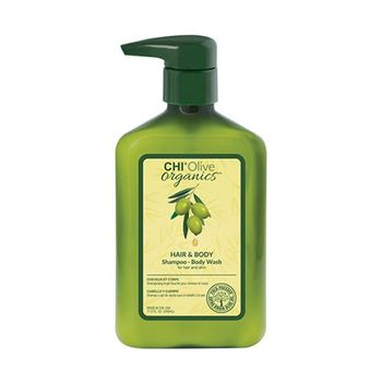 Chi Olive Organics Hair & Body Shampoo Body Wash (for Hair And Skin) 340ml