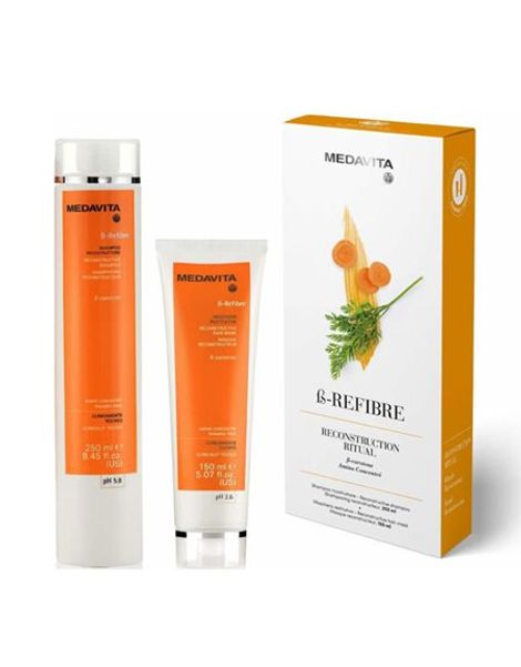 Medavita B-refibre Reconstructive Kit (Shampoo + Mask)