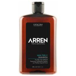 Farcom Arren Men's Grooming Multiply Shampoo for Skin, Hair Beard 400ml