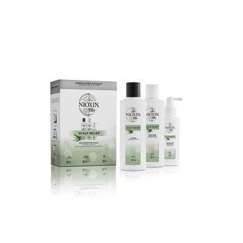 Nioxin Scalp Relief Kit (Shampoo 200ml, Conditioner 200ml, Treatment 100ml)