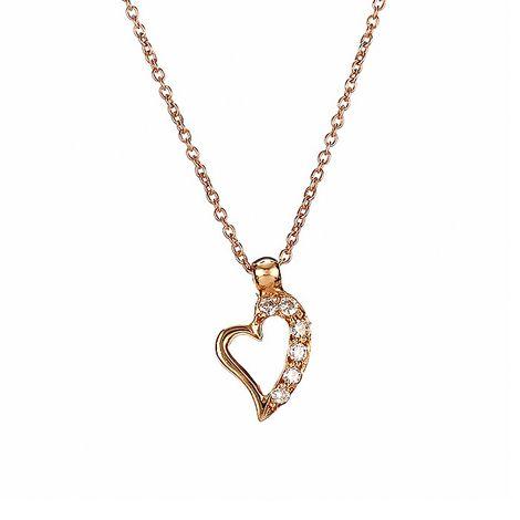 Μενταγιόν με Διαμάντια Ροζ Χρυσός Κ18 - 09034