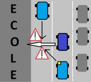 Déposer son enfant en double file devant l'école… une entrave à la circulation!