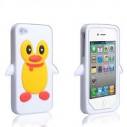 YouSave Accessories για Apple iPhone 4/4S Λευκή Θήκη Penguin(ΚΙΝ280W)