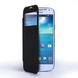 Caseflex για Samsung Galaxy S4_MINI Μαύρο Battery S-View Cover και Μεμβράνη Προστασίας Οθόνης (ΚΙΝ233BL)