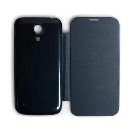 Caseflex για Samsung Galaxy S4 Μαύρο Battery Flip Cover και Μεμβράνη Προστασίας Οθόνης (ΚΙΝ242)