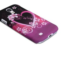 YouSave Accessories για Samsung Galaxy S4 Floral Heart Hard Cover και Μεμβράνη Προστασίας Οθόνης(ΚΙΝ295)