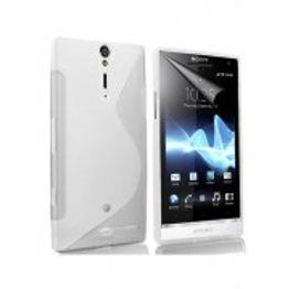 Advanced Accessories για Sony Xperia S Λευκή θήκη Gel S-Line και Μεμβράνη Προστασίας Οθόνης(ΚΙΝ083)