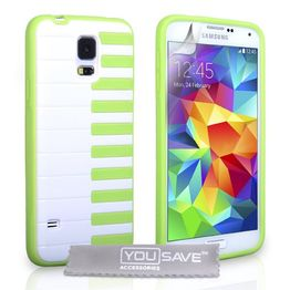 YouSave Accessories για Samsung Galaxy S5 Piano Gel Θήκη και Screen_Protector - Πράσινη (ΚΙΝ366)