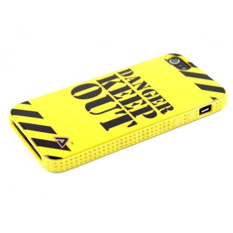 Advanced Accessories για Apple iPhone 5/5S Θήκη Jelli Danger Keep Out και Μεμβράνη Προστασίας Οθόνης(KIN223)