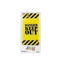 Advanced Accessories για Sony Xperia Z Κίτρινι θήκη Gel Danger και Μεμβράνη Προστασίας Οθόνης(ΚΙΝ098)