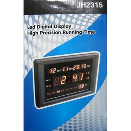 JH2315 Μικρή Ψηφιακή Πινακίδα Ρολόι - Θερμόμετρο - Ημε