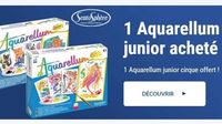 1 Aquarellum Sentosphere acheté = 1 Aquarellum Junior Cirque OFFERT (valeur 15€)