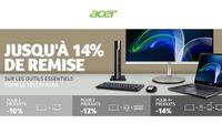 Offre spéciale télétravail Acer professionnel : jusqu'à 14% de remise (2 produits -10% / 3 produits -12% / 4 produits -14%)