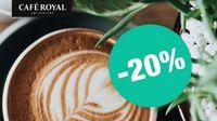 20% de remise sur les capsules compatibles avec Nespresso de Café Royal dès 30€ d'achat
