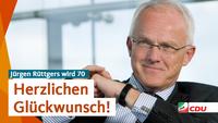Die CDU Nordrhein-Westfalen gratuliert Jürgen Rüttgers zum 70. Geburtstag!