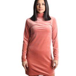 Βελούδινο μίνι φόρεμα ζιβάγκο (Ροζ)
