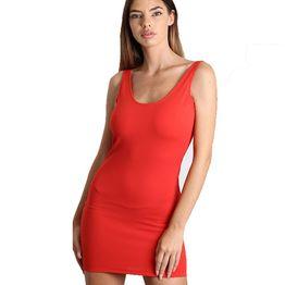 Mini Εφαρμοστό Φόρεμα τιράντα με ανοιχτή πλάτη (Κόκκινο)
