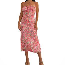 Μάξι φόρεμα φλοράλ evie (Ροζ)