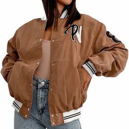 Bomber jacket με τσέπες στο πλάι ''PENNSYLVANIA'' (Πούρο)