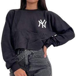 Crop top φούτερ ''NY'' (Μαύρο)