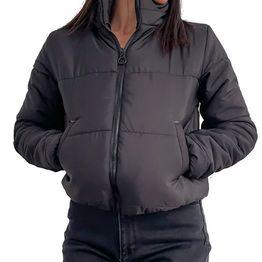 Bomber jacket με τσέπες (Μαύρο)